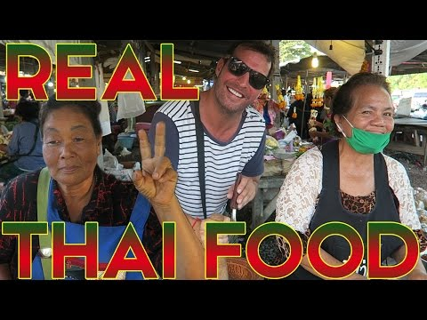 THE REAL THAI FOOD MARKET – JONNYS LIVING IN THAILAND VLOGS