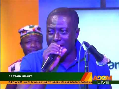 Captain Smart's Live Performance - Badwam Special Founders' Day Edition on Adom TV (21-9-17)