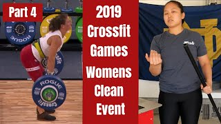 Olympic Lifting Coach Reacts to 2019 Crossfit Games Women's Clean Event - Part 4 I WuLift