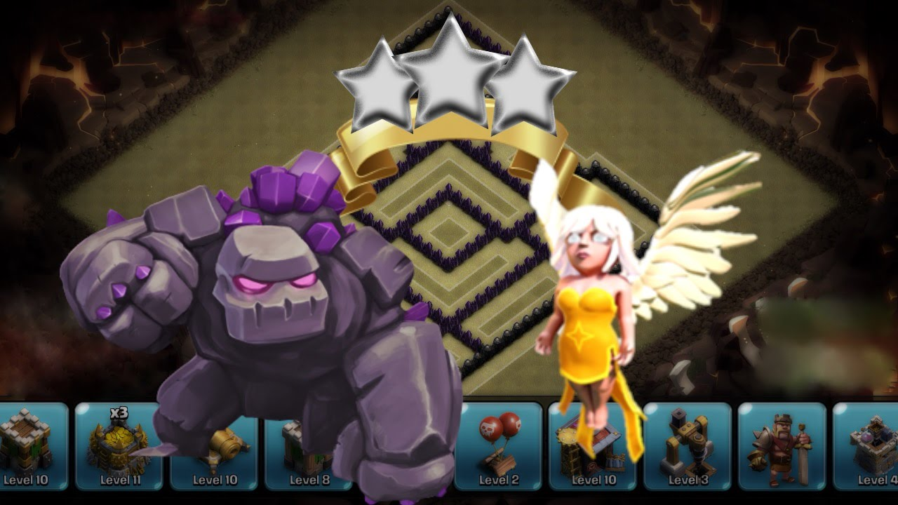 Clash of Clans | NEW ATTACK STRATEGY! Golem & Healer Attack Strategy ...