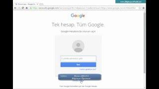 Google (Gmail) Hesabı Açma