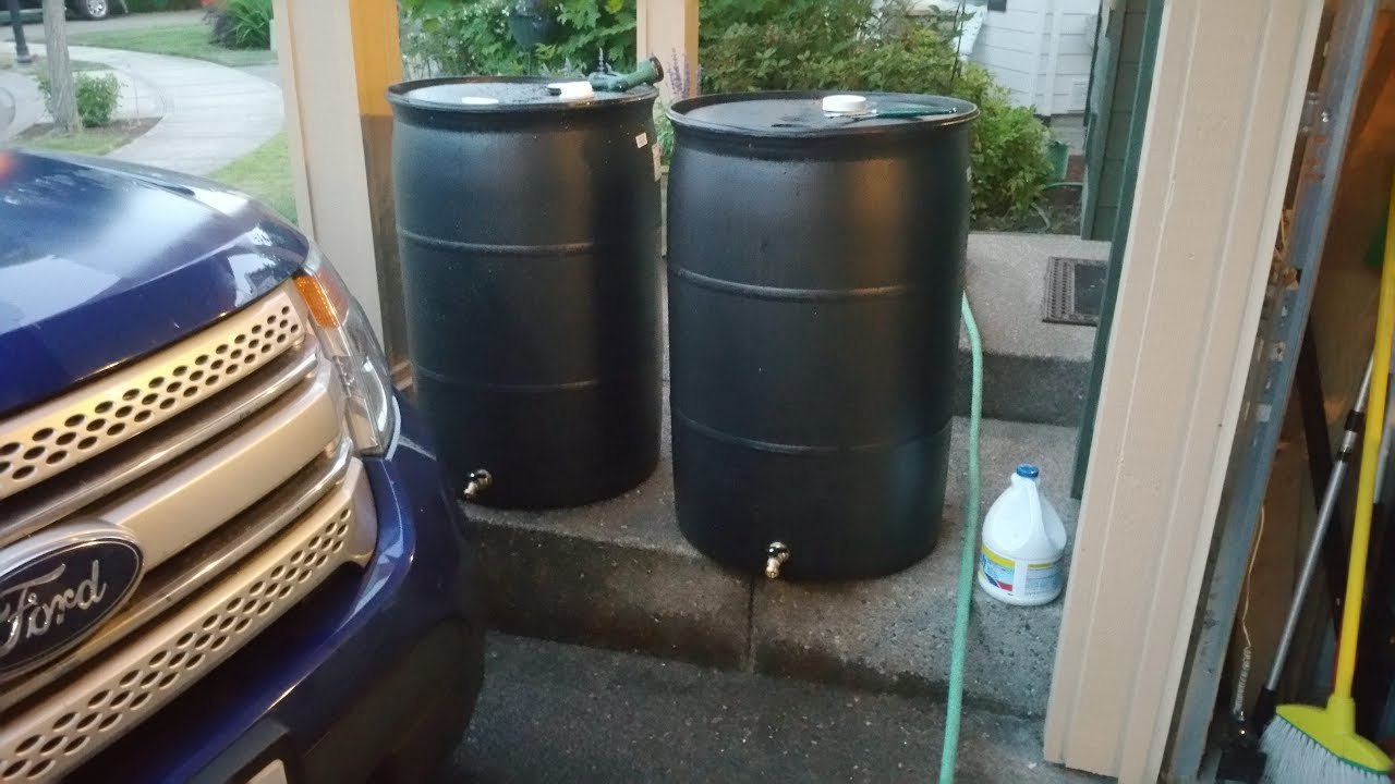 Rain Barrel Spigot Installation How To Install A On 55 Gallon Drum