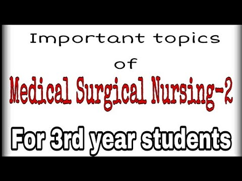 medical surgical topics