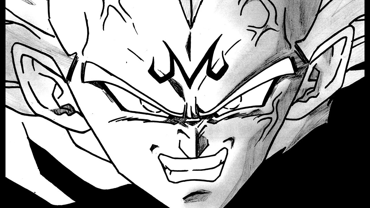 No 1195 How To Draw Majin Vegeta ベジータ Youtube