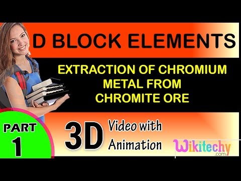 Extraction of chromium metal from chromite ore D Block Element class 12 chemistry subject cbse