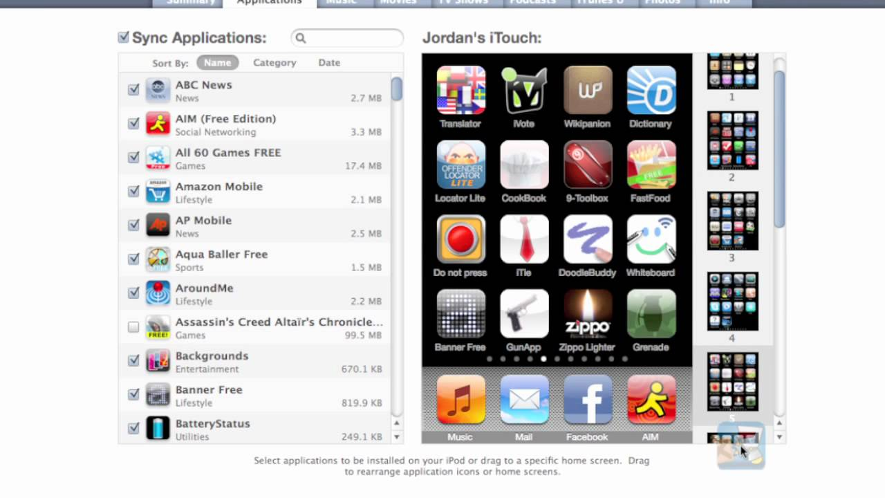 How to organize iphone apps in itunes 9 part 1 youtube for Cool way to arrange iphone apps