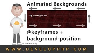 Background Position keyframes Animation CSS Tutorial
