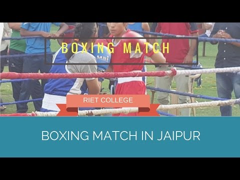 Girl Boxing match in jaipur RIET COLLEGE sport#20
