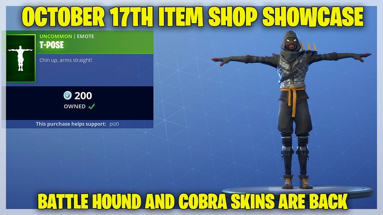Fortnite Item Shop [October 17th, 2018] (Fortnite Battle Royale)