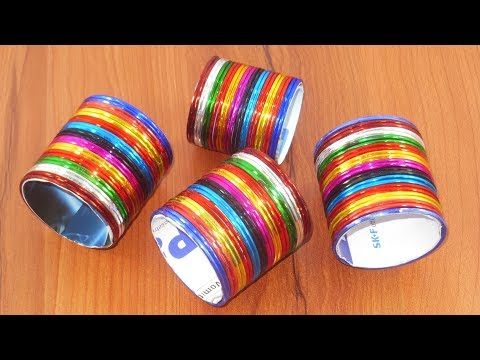 DIY Room Decor !!! Out of Handmade Things | DIY Projects | Diy old bangles reuse idea