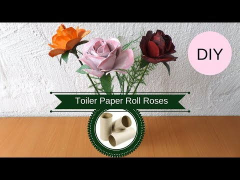 DIY Toilet Paper Roll Roses | How to Make a Rose from a Cardboard Tube | Recycled Flowers Crafts