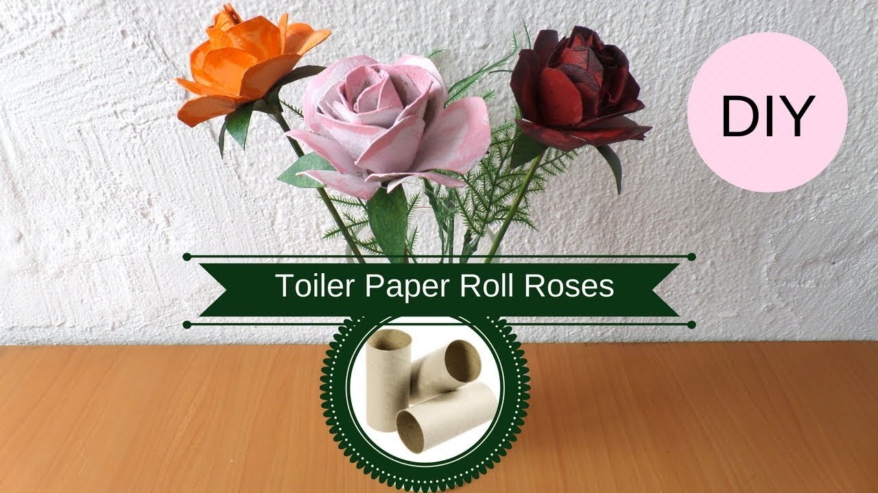 Diy Toilet Paper Roll Roses How To Make A Rose From A Cardboard