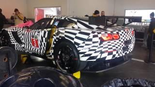 2014 chevrolet corvette c7r stingray startup at roar before the rolex
