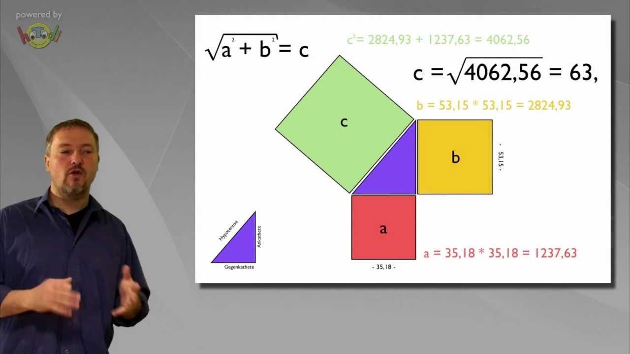 der satz des pythagoras leicht erkl rte mathematik und geometrie youtube. Black Bedroom Furniture Sets. Home Design Ideas
