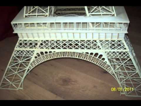 Contruccion torre eiffel en bamb youtube for Torre enfel