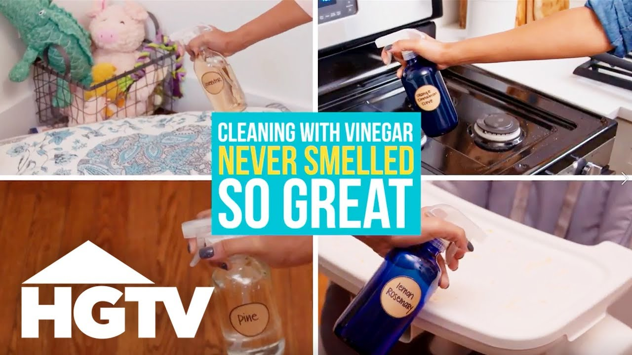 4 DIY Scented Vinegar Cleaners - Easy Does It - HGTV - YouTube