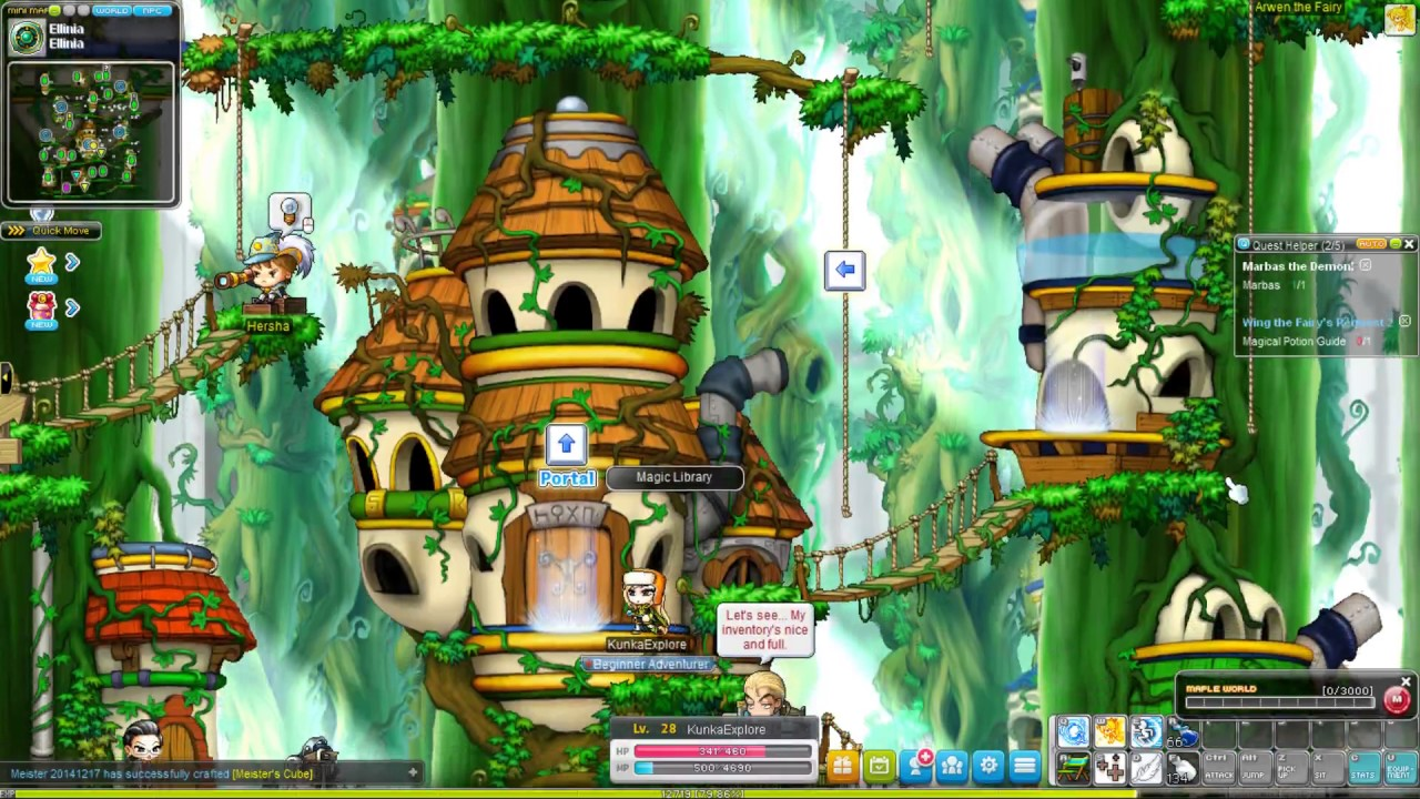 MapleStory - Steam version - 2017 Gameplay - Explorer - Part 4 - Fanzy is such a cute cat