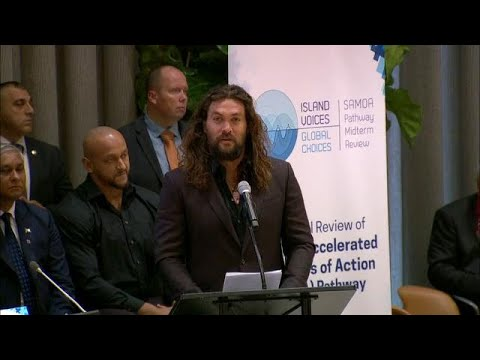 Jason Momoa (Actor and Ocean Activist) at the Small Islands Event