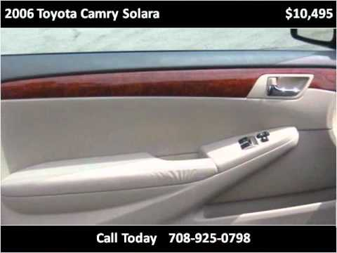 2006 toyota camry solara used cars alsip il youtube. Black Bedroom Furniture Sets. Home Design Ideas