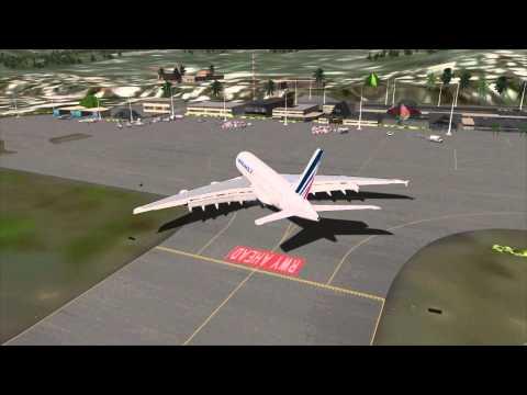 L'A380 d'Air France se pose à Tahiti Faaa