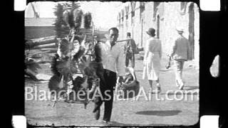 1920's Film of China: street scenes of Nankow, near the Great Wall of China
