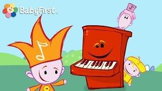 BabyFirst: Divertido para niños | Las Notas Musicales - El Piano | Diversión Infantil