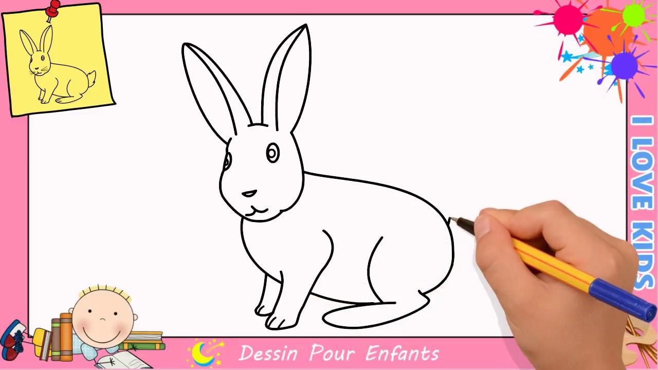 Comment dessiner un lapin facilement etape par etape pour enfants 6 youtube - Un lapin dessin ...
