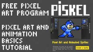 How to Use the Free Program Piskel to Make Pixel Art and Animation: Basic Tutorial by PXLFLX