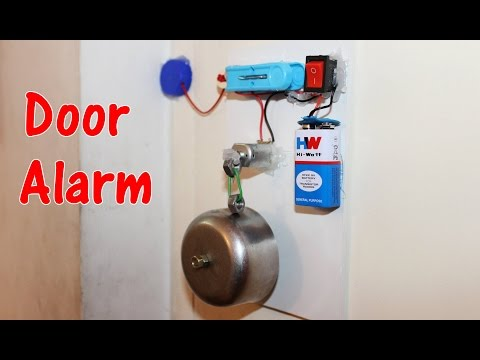 How to make a Door Alarm - Theft alert Alarm
