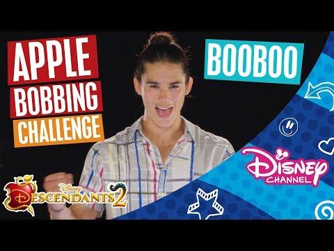 Descendants 2   Apple Bobbing Challenge 🍎   Booboo Stewart   Official Disney Channel Africa