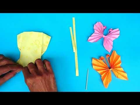 Zen Arts & Crafts : DIY Paper Butterflies Very Easy