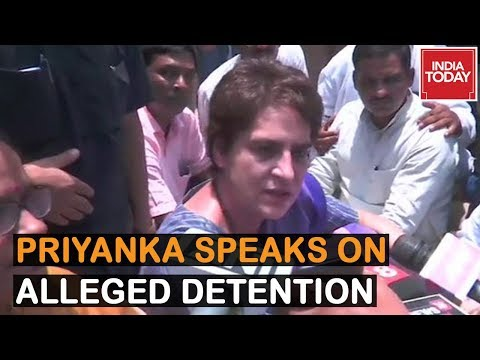 Priyanka Gandhi Speaks To Media, Rahul Gandhi Calls It Illegal Arrest