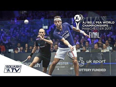 Squash: Mo. ElShorbagy v Mar. ElShorbagy - AJ Bell PSA World Champs 2017 Final Highlights