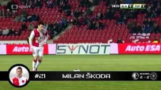 Slavia Praha - góly (jaro 2015)