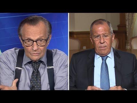 О цензуре в отношении RT и «российском вмешательстве»: Лавров дал интервью Ларри Кингу