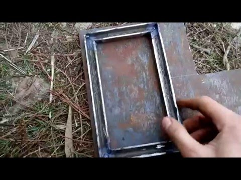 Как сделать дверцы для котла верхнего горения. Часть 4