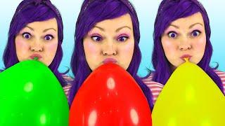 Canción de Familia Dedo Para Aprender Colores con Globos | Canciones Infantiles | Lily Fresh Songs