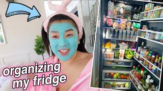 organizing my fridge + FRIDGE TOUR!!