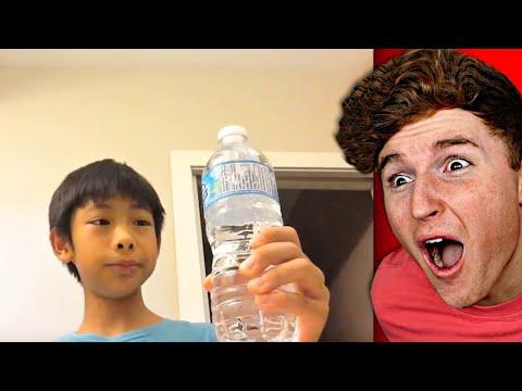 Kid Drinks Water Bottle In 1 SECOND..