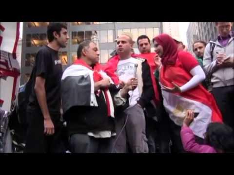 Asmaa Mahfouz Protesting in Wall Street أسماء محفوظ