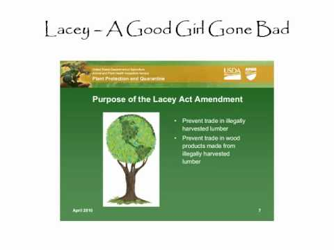 Lacey Act and my song and 2 cents