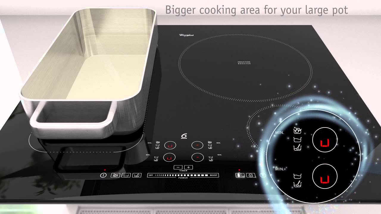 6TH SENSE Induction Hob FlexiCook Technology by Whirlpool