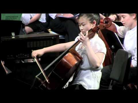 6th grade girl STUNS school recital with cello solo