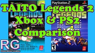 Taito Legends 2 - Xbox & PlayStation 2 Gameplay and bugs / glitches comparison [1080p 60fps]