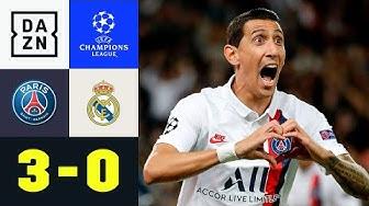Doppelter Di Maria entthront die Königlichen: PSG - Real Madrid 3:0 | UEFA Champions League | DAZN