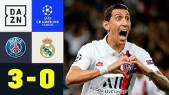 Doppelter Di Maria entthront die Königlichen: PSG - Real Madrid 3:0 | UEFA Champions League | DAZN