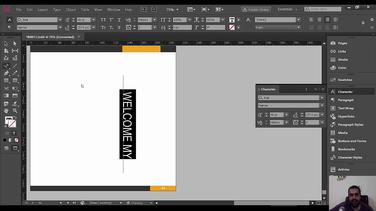 Indesign Tutorial Setting Text Vertically