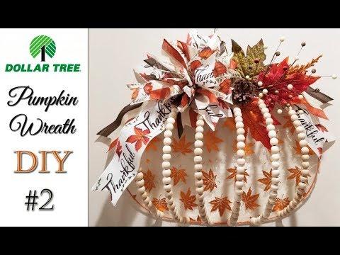 Dollar Tree Pumpkin Wreath DIY #2