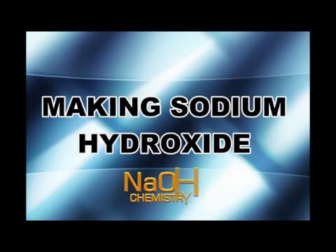 How to Make Sodium Hydroxide NaOH Lye from Salt ,Chlorine Gas Oxyhydrogen HHO