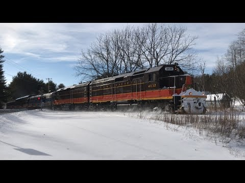 Chasing the Saratoga and North Creek Snow Train 1/6/18